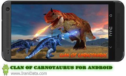 دانلود بازی Clan of Carnotaurus مبارزه دایناسورها برای اندروید