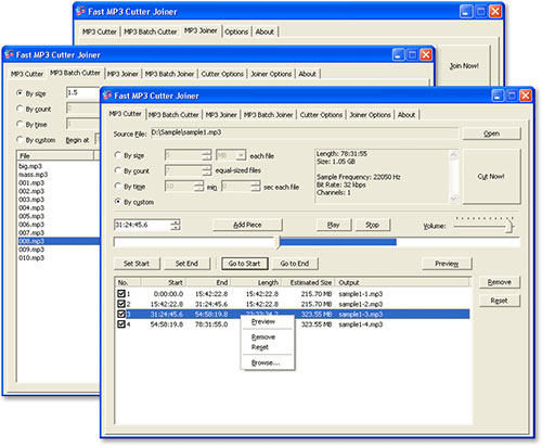 دانلود نرم افزار Fast MP3 Cutter Joiner - برش و وصل کردن آهنگ ها