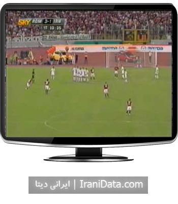 دانلود خلاصه بازی دوستانه ایران و آ اس رم ایتالیا در سال 2004