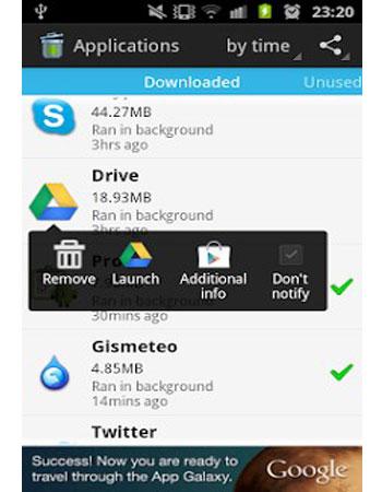 دانلود نرم افزار Unused App Remover برای اندروید