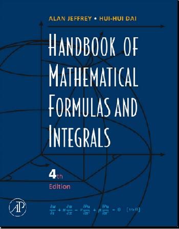 دانلود کتاب هندبوک فرمول ها و انتگرال های ریاضی