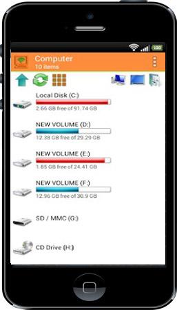 دانلود Wifi PC File Explorer برای اندروید – نرم افزار اشتراک فایل از PC به موبایل