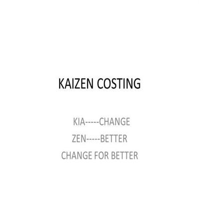 هزینه یابی کایزن