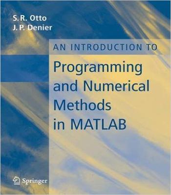 دانلود کتاب مقدماتی از برنامه نویسی و روش های عددی در متلب