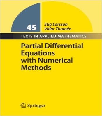 دانلود کتاب معادلات دیفرانسیل جزئی با روش های عددی