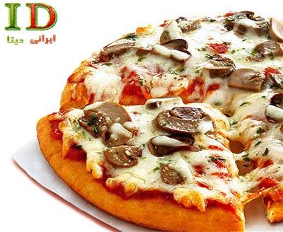طرز تهیه پیتزا قارچ و گوشت با جزئیات کامل