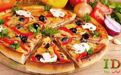 طرز تهیه پیتزا مخلوط با جزئیات کامل