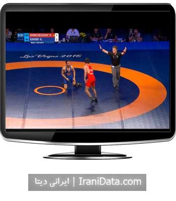 دانلود کشتی حسن رحیمی در فینال وزن 57 کیلو مسابقات جهانی لاس وگاس