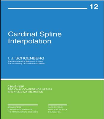 دانلود کتاب درونیابی اسپلاین کاردینال (CARDINAL SPLINE INTERPOLATION)